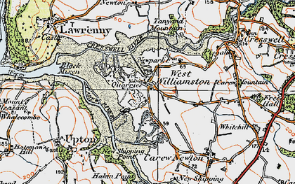 Old map of West Williamston in 1922