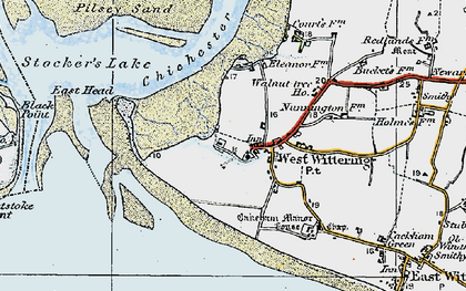 Old map of West Wittering in 1919