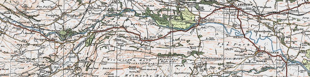 Old map of West Witton in 1925