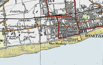Old map of West Worthing in 1920