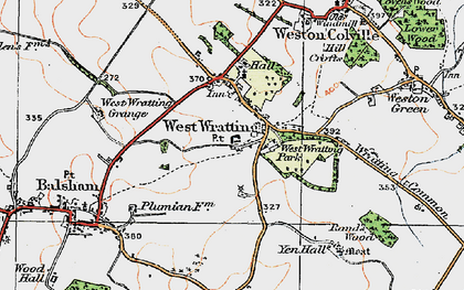 Old map of West Wratting in 1920