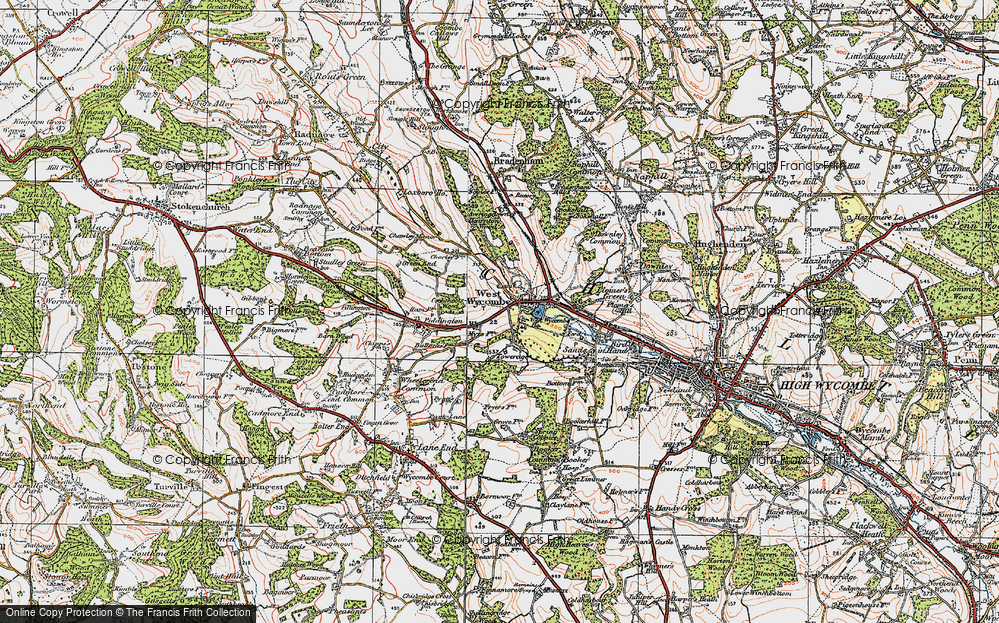Old Map of West Wycombe, 1919 in 1919