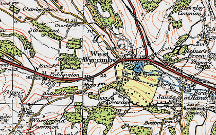 Old map of West Wycombe in 1919