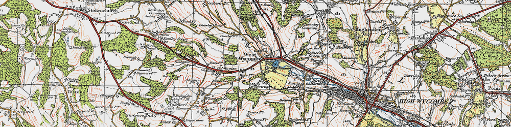 Old map of Windyhaugh Ho in 1919