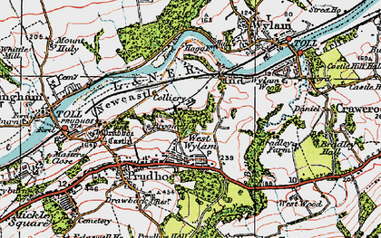 Old map of West Wylam in 1925
