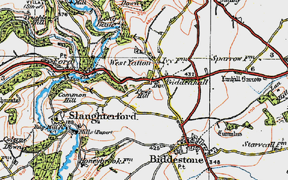Old map of West Yatton in 1919