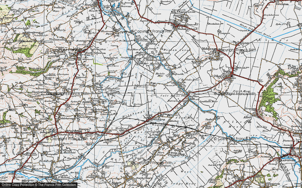 Old Map of West Yeo, 1919 in 1919