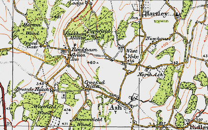 Old map of West Yoke in 1920