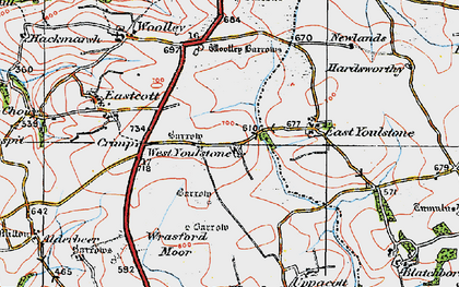 Old map of West Youlstone in 1919
