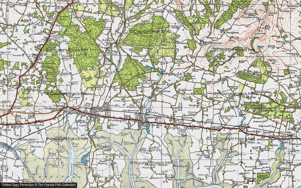 Old Map of Historic Map covering Aldsworth in 1919
