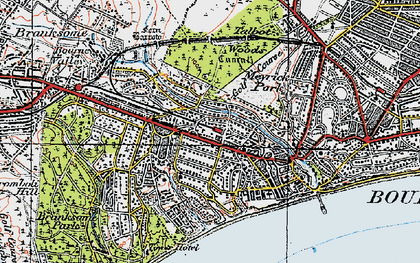 Old map of Westbourne in 1919