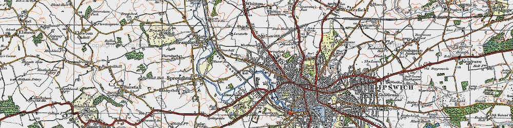 Old map of Westbourne in 1921