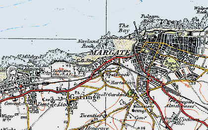 Old map of Westbrook in 1920