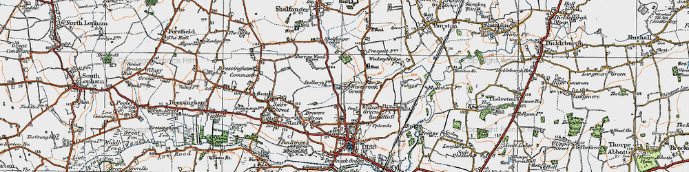 Old map of Westbrook Green in 1921