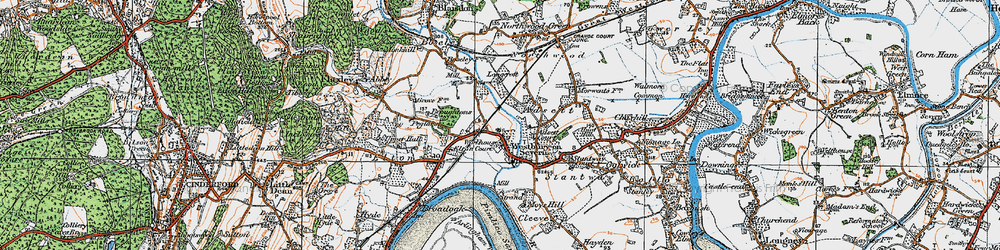 Old map of Adsett in 1919