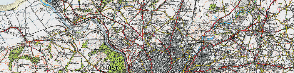 Old map of Westbury Park in 1919
