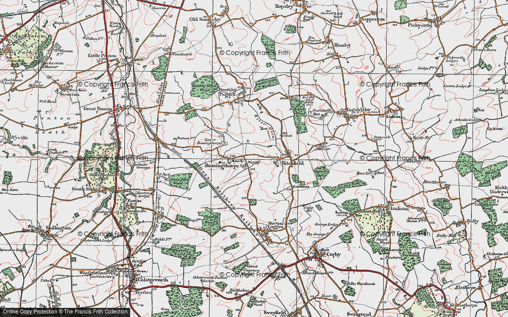 Old Map of Westby, 1922 in 1922