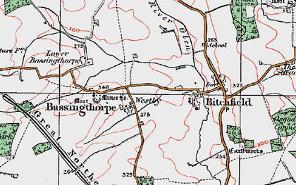 Old map of Westby in 1922