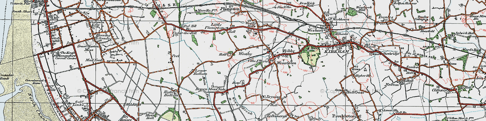 Old map of Westby in 1924