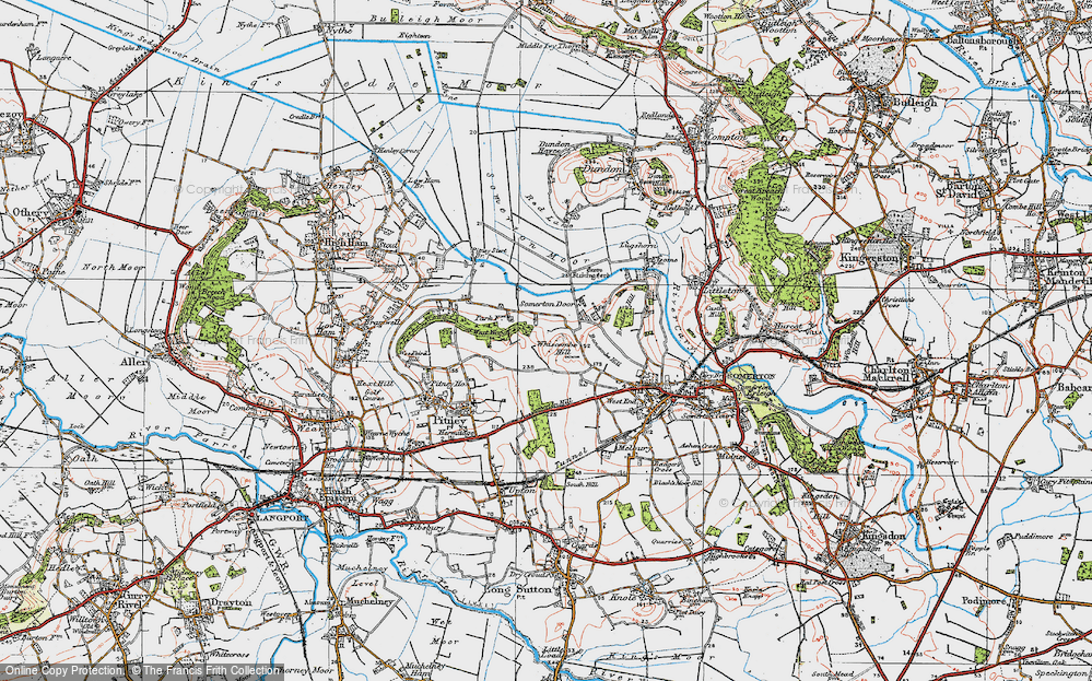 Old Map of Historic Map covering Bancombe Hill in 1919