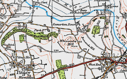 Old map of Bancombe Hill in 1919