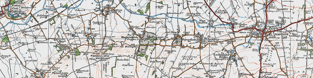 Old map of Westcot in 1919