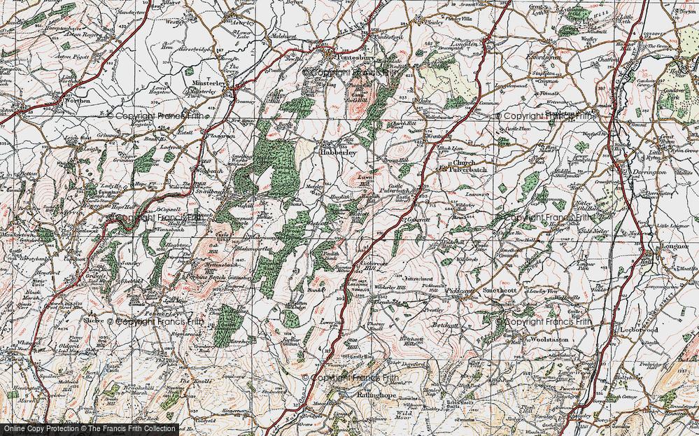 Old Map of Westcott, 1921 in 1921