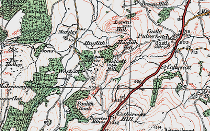 Old map of Westcott Hill in 1921