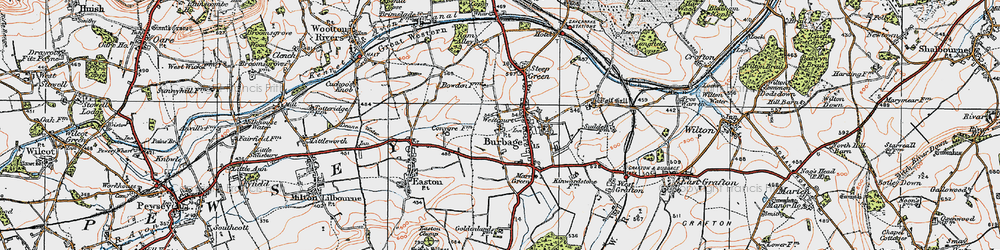 Old map of Westcourt in 1919