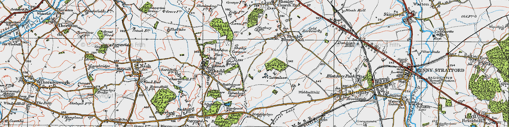 Old map of Westcroft in 1919
