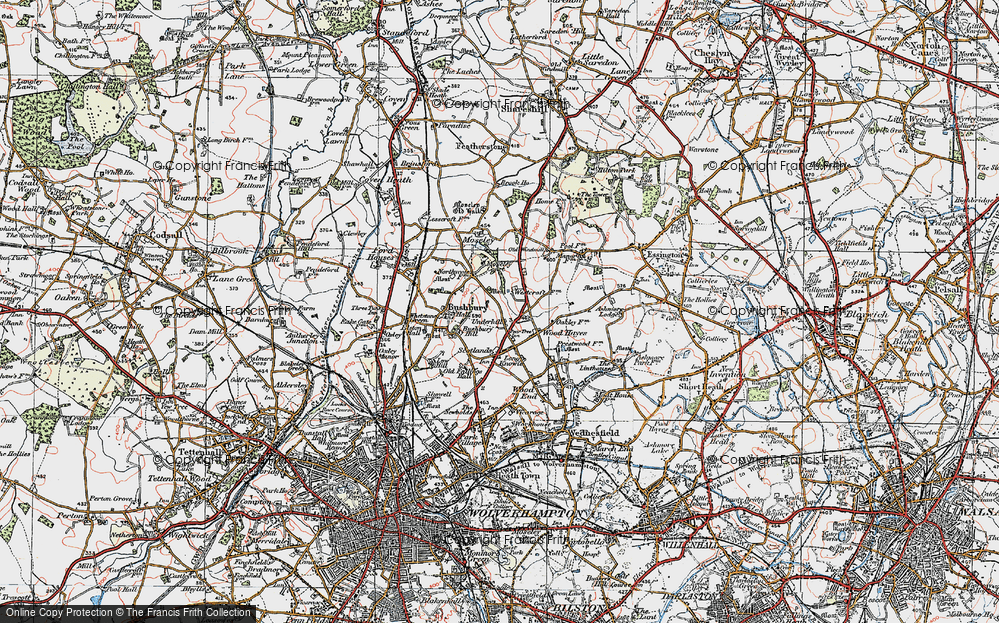 Old Map of Westcroft, 1921 in 1921