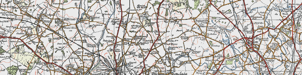 Old map of Westcroft in 1921