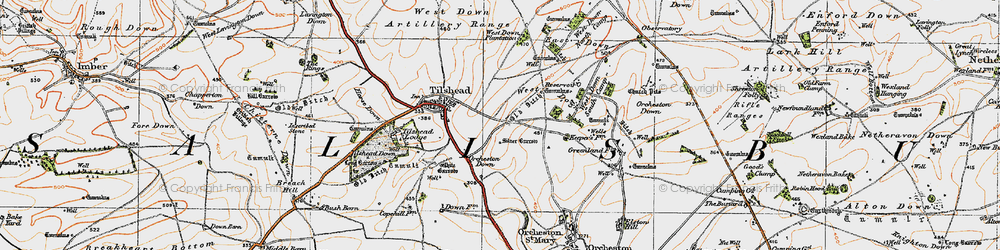 Old map of Westdown Camp in 1919