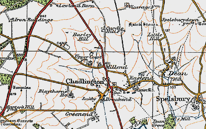 Old map of Westend in 1919
