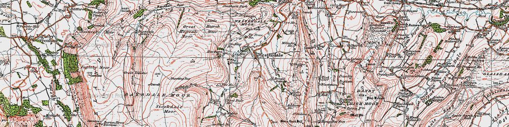 Old map of Westerdale in 1925