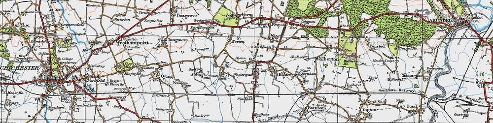 Old map of Westergate in 1920