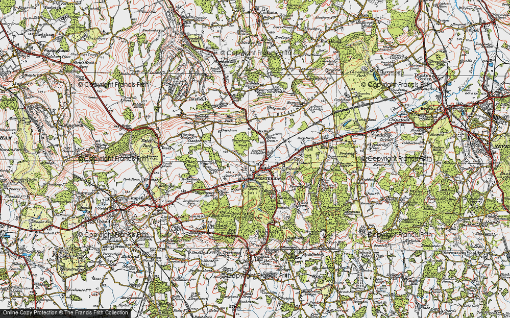 Old Map of Westerham, 1920 in 1920