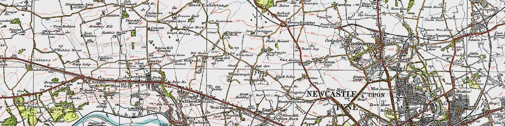 Old map of Westerhope in 1925