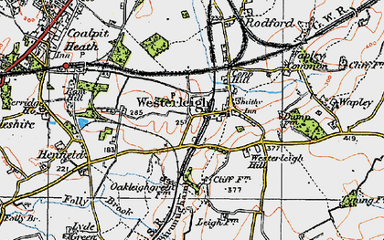 Old map of Westerleigh in 1919