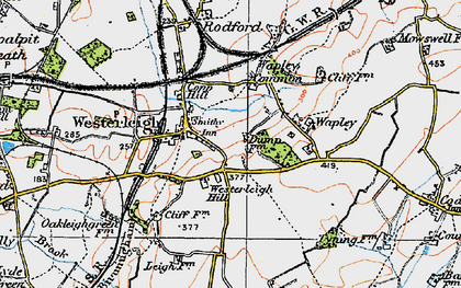 Old map of Westerleigh Hill in 1919