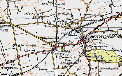Old map of Western Bank in 1925