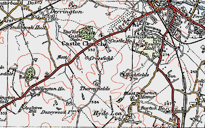 Old map of Western Downs in 1921