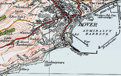 Old map of Western Docks in 1920