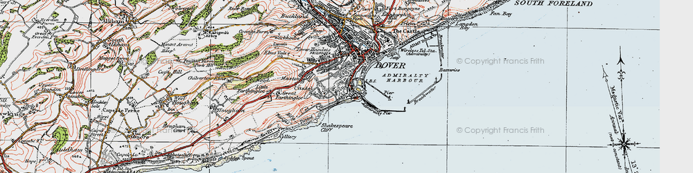Old map of Western Heights in 1920