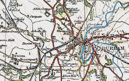Old map of Western Hill in 1925
