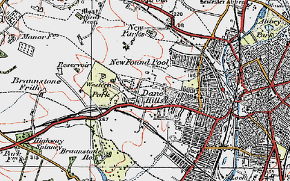 Old map of Western Park in 1921