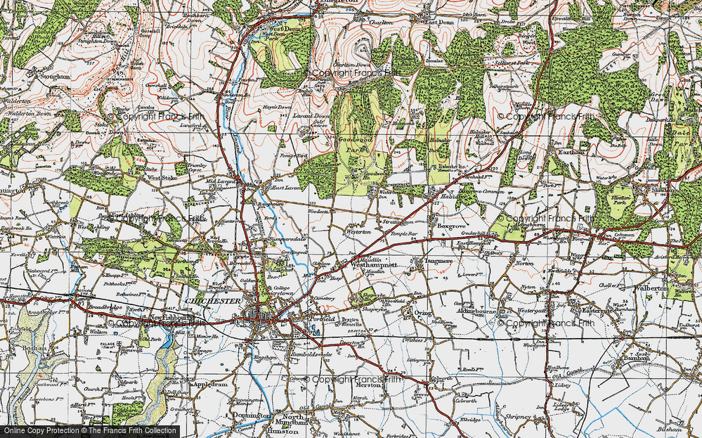 Old Map of Westerton, 1919 in 1919