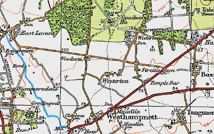 Old map of Westerton in 1919