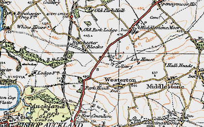 Old map of Westerton in 1925