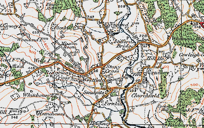 Old map of Westfield in 1920